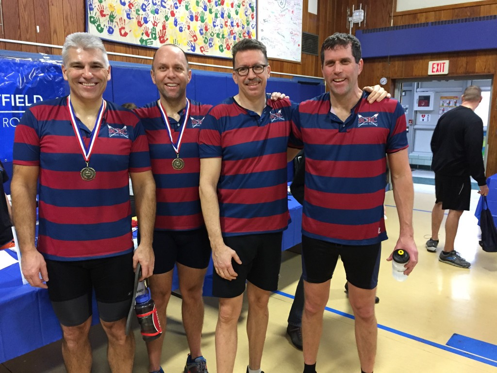 Our Mens Masters group at the Resolution Row in Westfield, NJ on 1/22/2017. Alan and Dave won their age groups.
